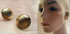 MATTE FROST GOLD HALF DOME OVER SIZE LARGE 20MM STUD EARRINGS USA SELLER NEW