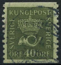 Sweden 1920-3 SG#106A 40ore Olive Green Used #D8301