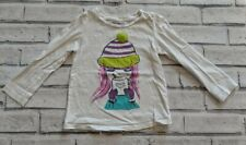 Girls Gap White Girl Drinking Cocoa Long Sleeve Shirt Size 4t