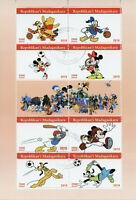 Madagascar 2019 CTO Disney Mickey Minnie Mouse Donald Duck Pooh 8v M/S Stamps