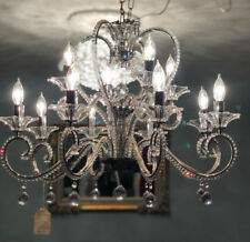Maria Theresa Chrome 12 Light 28-Inch Chandelier with Italian Royal Crystal Rock