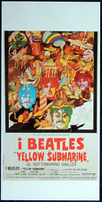 THE BEATLES POSTER PAGE 1968 YELLOW SUBMARINE REPRO ITALIAN MOVIE POSTER . F15