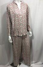 Candy Cane Christmas XL 18 Loungewear Pajamas Terry Cloth Bottoms Elastic Waist