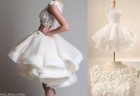 2015 New Ivory/White Short Wedding Dress Bridal Gown Custom Size 6 8 10 12 14 16