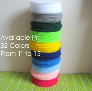 """Nakpunar Felt Circles - Choose from 22 colors from 1"""" to 8"""" wide - craft die cut"""