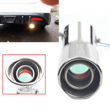 LED Exhaust Pipe Spitfire Red Light Flaming Muffler Tip For Car Auto Universal