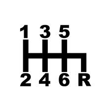 JDM 6 Speed Shift Pattern Drift Mazda Honda Subaru Vinyl Decal Sticker Best