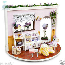 DIY Handcraft Miniature Project Rotating My Lavender Garden Wooden Dolls House