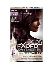 Schwarzkopf Color Expert 4.9 profunda amatista omegaplex Permanente Tintura de Cabello x1