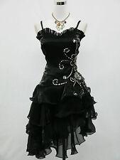 Cherlone Übergröß Schwarz Damen Cocktailkleid Ballkleid Brautjungfer Kleid 54