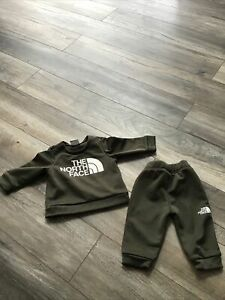 Baby Boy Forest Green The North Face Tracksuit 3-6 Months