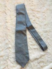 """Neck Tie Blue diamond checkered 58"""" Oleg Cassini Silk Weber & Heilbroner"""
