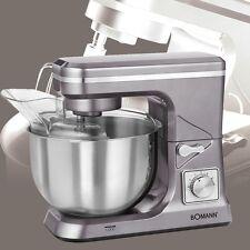 Edelstahl 5 L Rühr Schüssel Gastronomie Maschine 1000 Watt 8 Stufen Knethaken