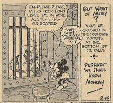 VERY RARE MICKEY MOUSE  DAILY 8/16/1930  EARLY FLOYD GOTTFREDSON - MINNIE MOUSE!
