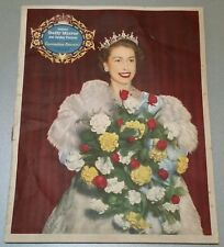 VINTAGE ROYAL CORONATION BOOK.1953.OVERSEAS DAILY MIRROR.116 PAGES.PROP.DISPLAY.