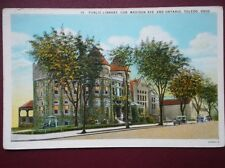 POSTCARD USA OHIO TOLEDO PUBLIC LIBRARY  COR MADISON AVE & ONTARIO