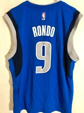 Adidas NBA Jersey Dallas Mavericks Rajon Rondo Light Blue sz XL