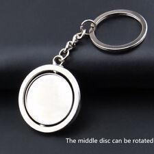 Round Blank Double 360 Rotating Metal Keychain Car Keyring Key Chain Ring Key