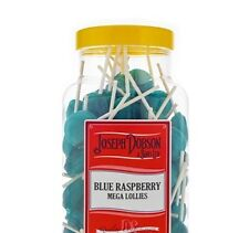 DOBSONS JAR MEGA BLUE RASPBERRY LOLLIPOPS X 90, RETRO SWEETS, PARTY BAGS, GIFT