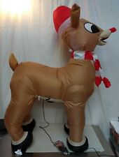 Airblown Inflatable Rudolph The Red Nose Reindeer - Gemmy Indoor or Outdoor 3.5'