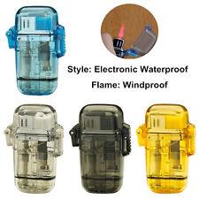 4 Outdoor Windproof Waterproof Refillable Cigar Jet Butane Gas Cigarette Lighter