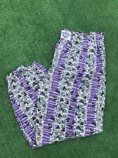 80s VINTAGE Rare International Baggyz Pants Elastic Waist Purple MC Hammer XL