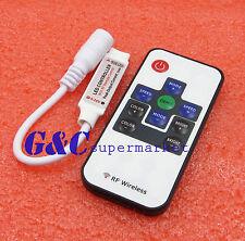 5V 12V 24V RF Wireless Remote Switch Controller Dimmer Mini LED Strip Light RGB