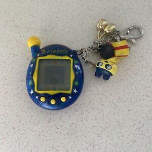 Rare Tamagotchi Connection V3 Blue Stars Yellow Buttons 2004 Bandai