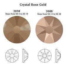 2058 Ss9 RG 50 Rhinestone Swarovski Flat Base 2 55mm Crystal Pink Gold F
