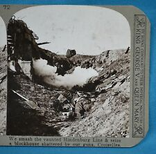 WW1 Stereoview Smashing Through Hindenburg Line At Croiselles Realistic Travel