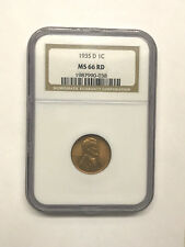 1935-D Lincoln Wheat Cent NGC MS66 Red #1455