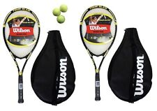 2 x Wilson Tour Slam Tennis Rackets + Covers + 3 Balls RRP £110