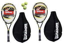 2 x Wilson Tour Slam Tennis Rackets + Covers + 3 Balls RRP £110