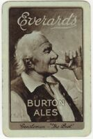 Playing Cards 1 Single Card Old Everards Brewery BURTON ALES Beer Advertising 1