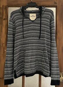 Men's Hollister Aztec Knit Style Hoodie - XL, Navy