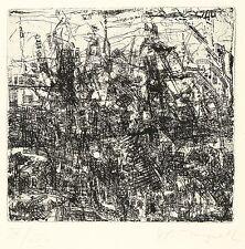 HORST PETER MEYER - Straßengewirr - Radierung 1982