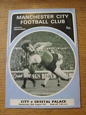 18/08/1971 Manchester City V Crystal Palace (piccolo segno di penna su copertina)