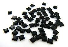 STRASS Quadrati 2,7mmx 2,7mm 10pz hotfix Neri black quadrato Termoadesivi square