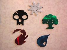 Lot of 5 MTG Mana Logos 3 inch Metal Wall Art Ornament Magnet Stencil Token