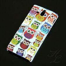Sony Xperia U/st25i Custodia Rigida Guscio Protettivo Per Cellulare Astuccio Cover molti GUFO OWL