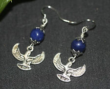 Isis, Queen of Magic Earrings with Lapis Lazuli - Egyptian Goddess, Pagan, Wicca