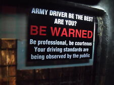 ARMY LANDROVER XD WOLF WIMIK SNATCH DEFENDER DASHBOARD WARNING STICKER BLACK