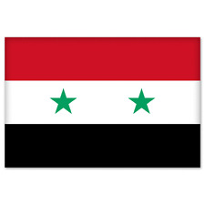 "Syria Syrian National Flag car bumper sticker 5"" x 4"""