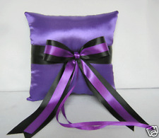 Wedding Accessories Purple black Ring Bearer Pillow Your Colors