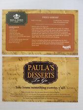 PAULA DEEN CELEBRITY CHEF HARRAH'S TUNICA CASINO DESSERT RECIPE CARD ASST 4