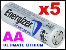 **EXPIRY 2037** 5 x ENERGIZER ULTIMATE AA LITHIUM BATTERIES LR6 L91 NEW 1.5v NEW