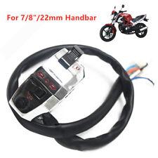 "NEW 7/8""Motorcycle Handlebar Horn Button Turn Signal Fog Light Controller Switch"