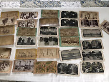 30 Antique Stereo View Mixed Military Theatre and MORE Lot G