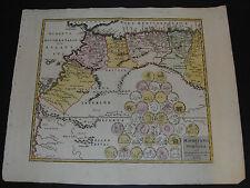 Mauretania et Numidia – Altkolorierte Karte, Nürnberg 1720
