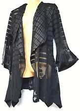 TS cardy TAKING SHAPE plus sz M / 18 - 20 Carmela Cardi black jacket NWT rp$150!